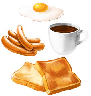 Breakfast material set