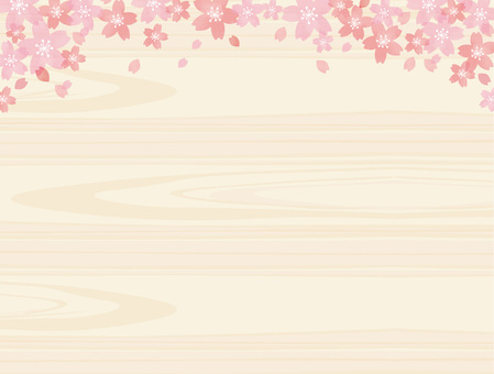 Cherry blossoms and wood grain 01