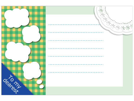 Check pattern postcard 2