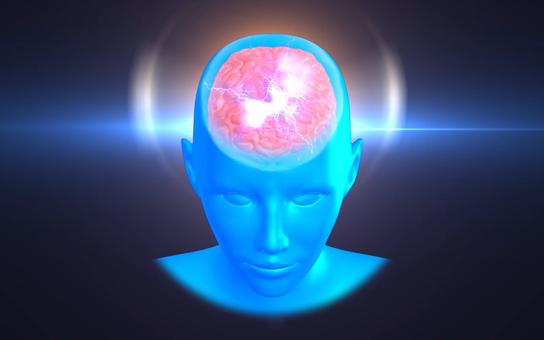 CG image of brain_flash, awakening_001