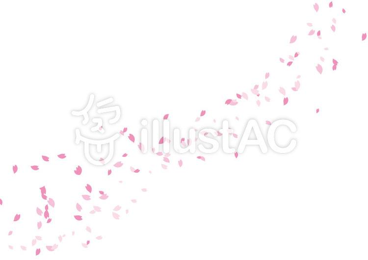 桜吹雪ブラシ3花びらイラスト No 756351無料イラストなら