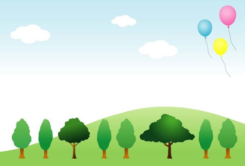 Hills and trees and balloons