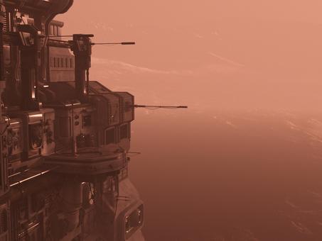 Sandstorm's planet base