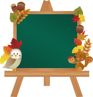 Blackboard easel autumn frame