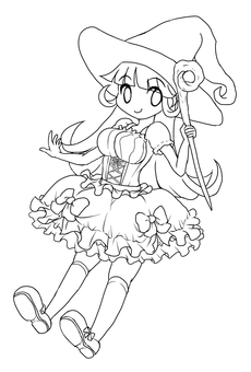 Witch (line drawing)