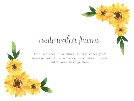Sunflower frame 03