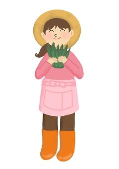 農家のお姉さん