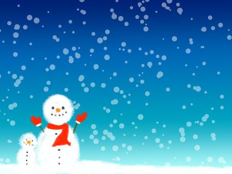 Winter Background Snowman 1