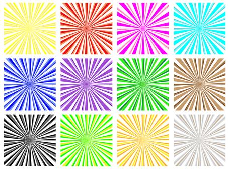 Radiant square 12 patterns