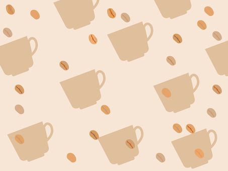 Coffee cup and coffee bean background