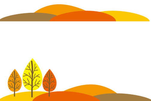 Autumn leaves mountain landscape frame