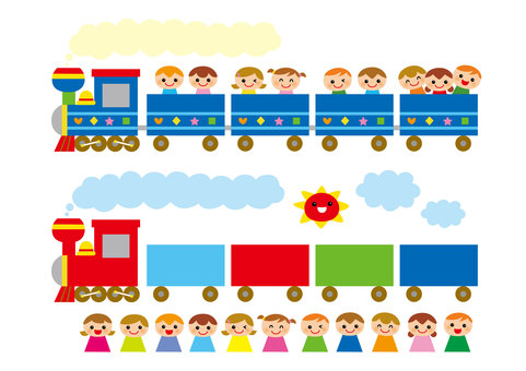 Train and children icon