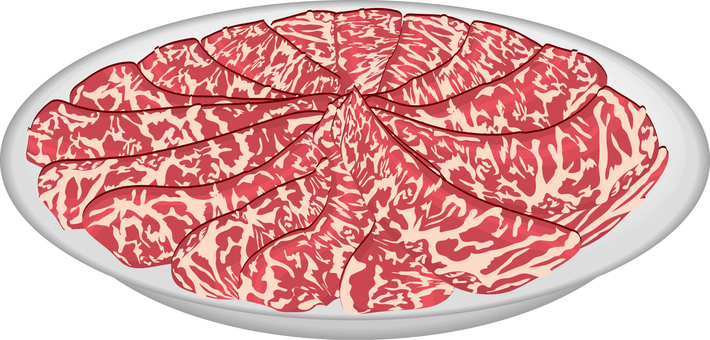 Food series meat beef loin for shabu-shabu