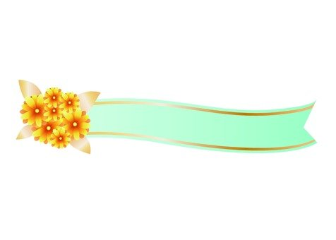 Ribbon line with flower (light blue)