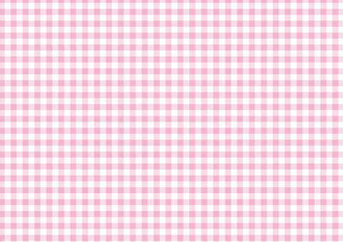 Spring pink ☆ classic check pattern ☆ background material