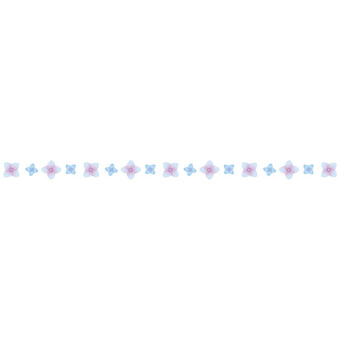 繡球花線藍色