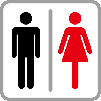 Pictogram _ toilet _ black red