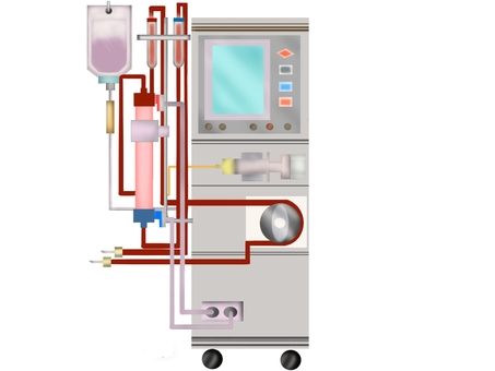 Machine for dialysis