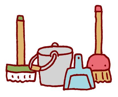 청소 도구 정리