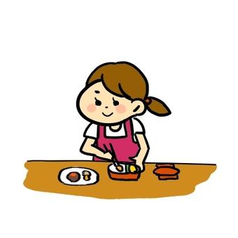 Lunch box making
