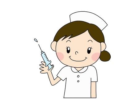 Injection nurse white