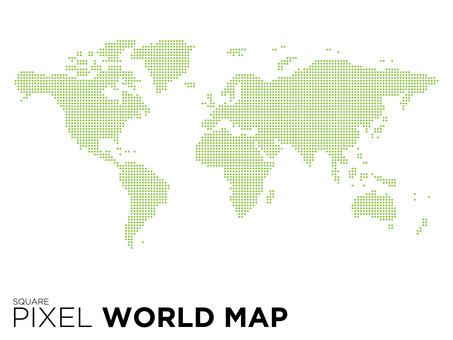 ピクセルの世界地図(四角バージョン)