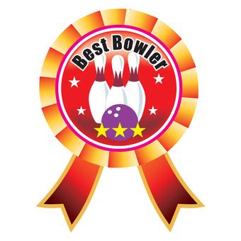 Bowling emblem red