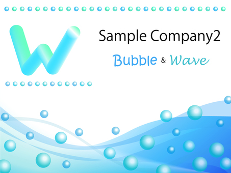 Business template bubble & amp; Wave