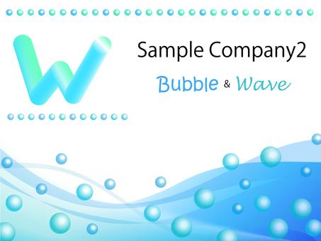 비즈니스 템플릿 버블 & amp; Wave