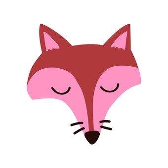 Sleeping face of a fox
