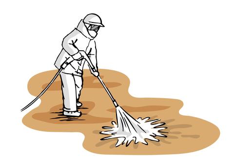 Decontamination worker B