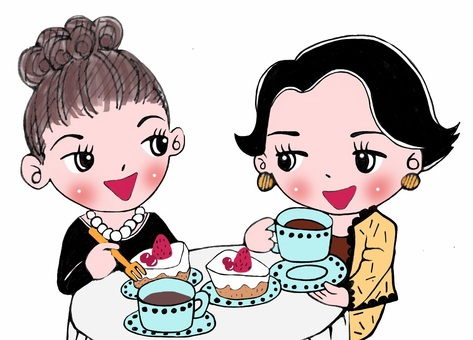 Tea at the cafe