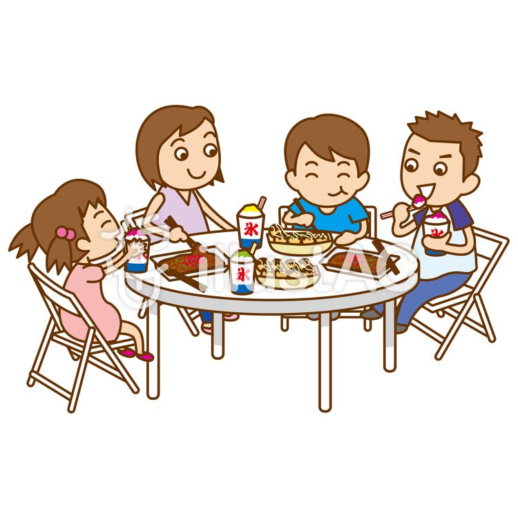祭りで食事イラスト No 535887無料イラストならイラストac