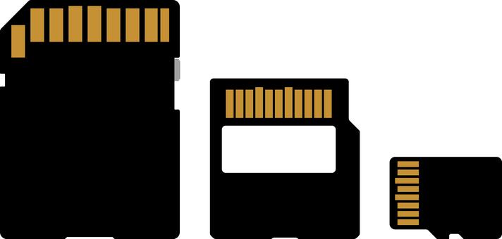 SD card back side set