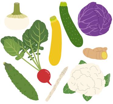 Vegetables (pale vegetables) 3/3 * Borderless