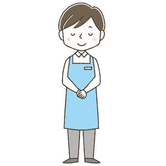 Caregiver, care worker, cute male helper
