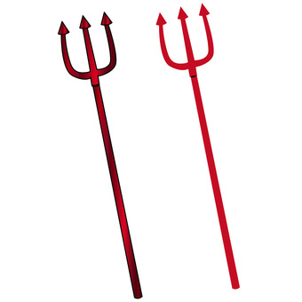 Devil Spear Halloween Material