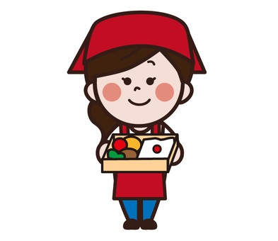 Female salesperson of lunch box shop