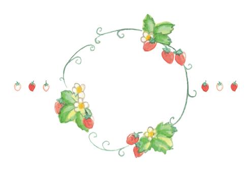 딸기 원형 프레임