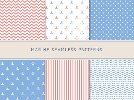 Marine style pattern set