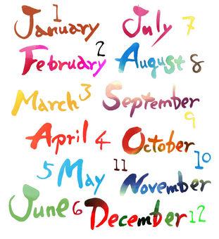 Month English name