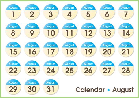 Calendar circle August