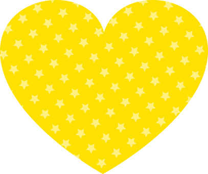 Star Pattern Heart (Yellow)