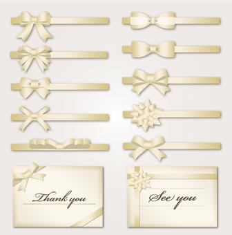 Material Ribbon Material Set (Gold)
