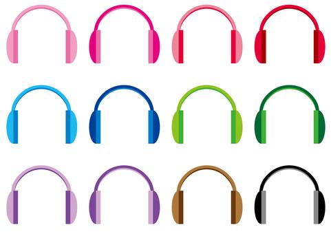 Headphones each color