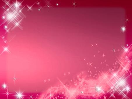Sparkling background frame red