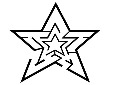 Star maze (black)