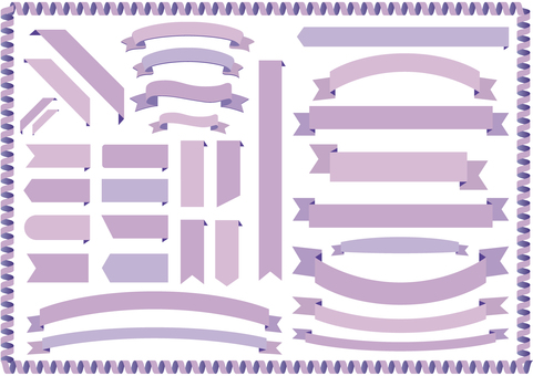 Lavender light purple ribbon frame frame background wallpaper