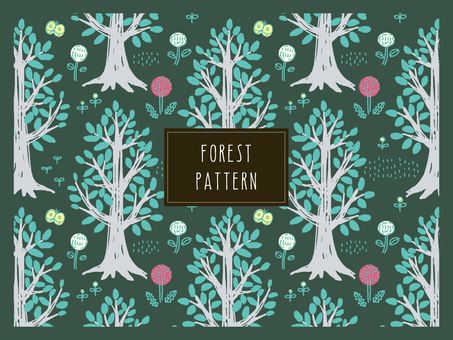Forest tree pattern _3