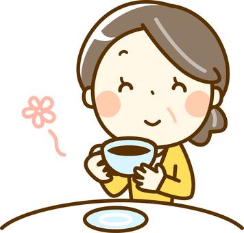 高級女子做茶